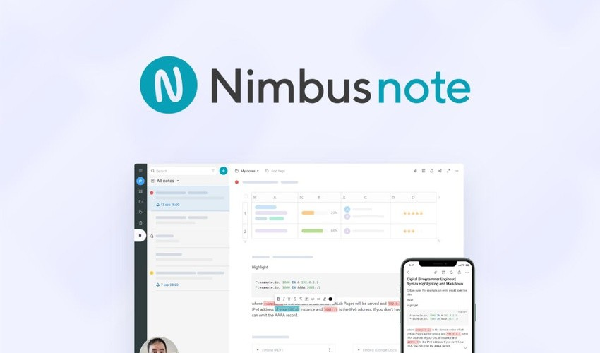 Nimbus Note Lifetime Deal | Click here to get it.