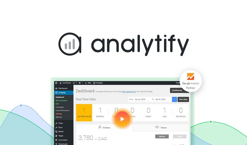 Analytify Google Analytics čeština